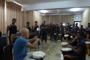 DrumCircle Training für Sri Lanka Drummers