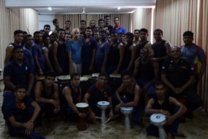 SDC mit der königlichen Trommelgarde Sri Lanka (Colombo 2017)